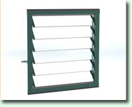 Optional 6 slat louvres