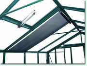 Internal roof shading blinds.
