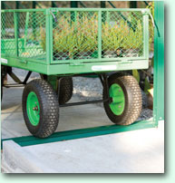 Many greenhouses on the market have a step at the doorway, which can be inconvenient, and also a trip hazard. The Robinsons design has an extremely low threshold, making it perfect for wheelchair and wheelbarrow access